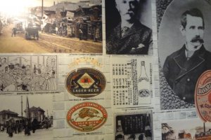 Near the end of the tour, a series of panels of Kirin's history are on display.