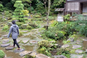 <p>The back garden is for more than viewing. Get out and explore the swimming carps, blooming flowers, and the hidden gems of this paradise.</p>