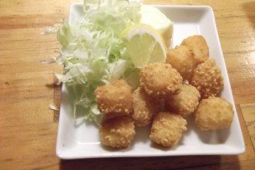 <p>My fried cheeseballs</p>