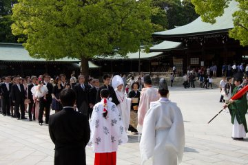 <p>You will see them walking to and from the actual&nbsp;ceremony, which itself certainly remains a very&nbsp;private matter and is closed to the public.</p>