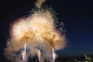 Fireworks at Minato Kobe Fireworks Festival (2012)