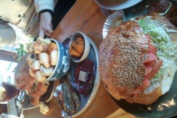 500엔 햄버거