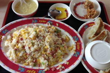 <p>The fried rice set with gyoza is more than enough for one person</p>