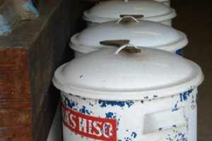 Miso containers inside one of the stores