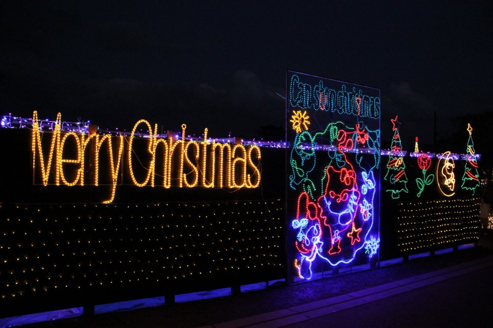 The Christmas Fantasy is an annual event at the Okinawa Zoo