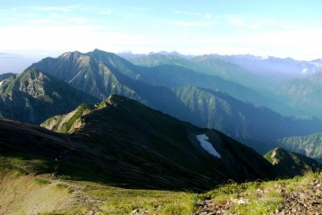 Amazing mountain range in Nagano Prefecture Japan, between Mt Shirouma and Mt Karamatsu.