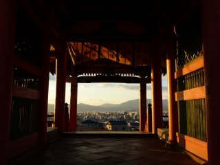 Evening view through Sai-mon Gate