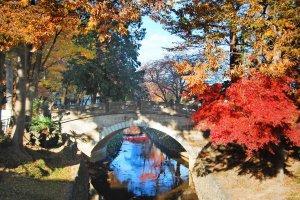 Beautiful stone bridge with autumn atmosphere.