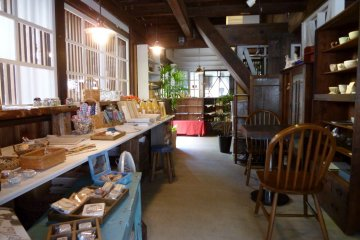 <p>Just inside the door is a small &#39;zakka&#39; (knick-knack) shop.</p>
