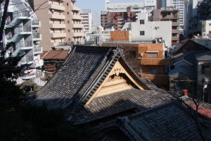 You might be surprised at how completely surrounded by office buildings and apartment buildings the temple has become over the years.