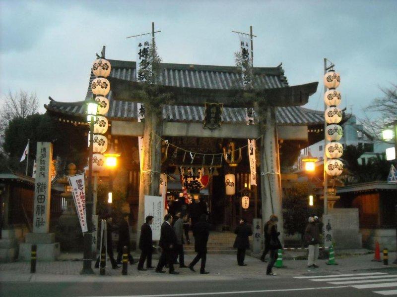 Entrance to Kushida Shrine.