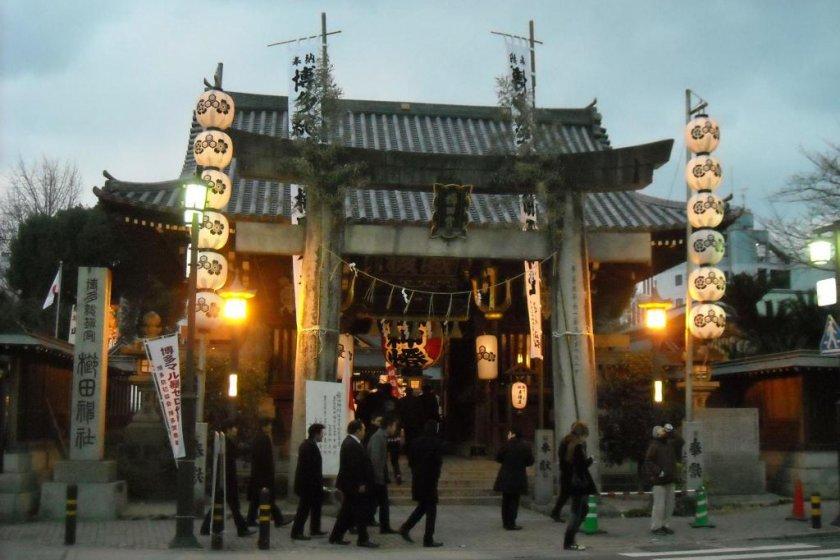 櫛田神社入口