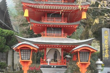 Fire-painted pagoda.