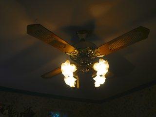 Đồ nội thất cổ bao gồm cả những chiếc quạt trần đã được bảo tồn.