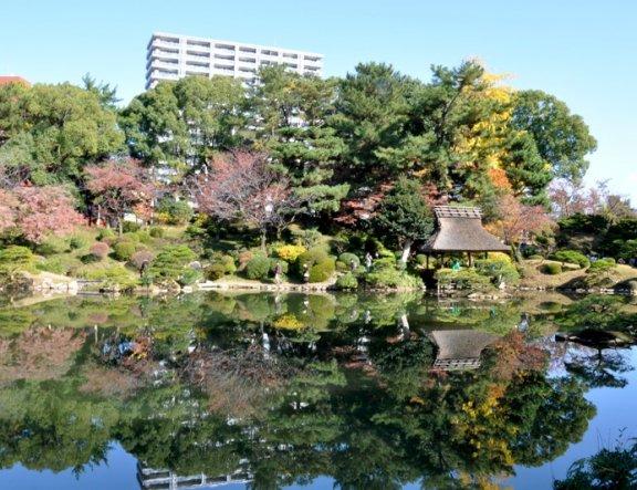 슈케이엔 정원 방문