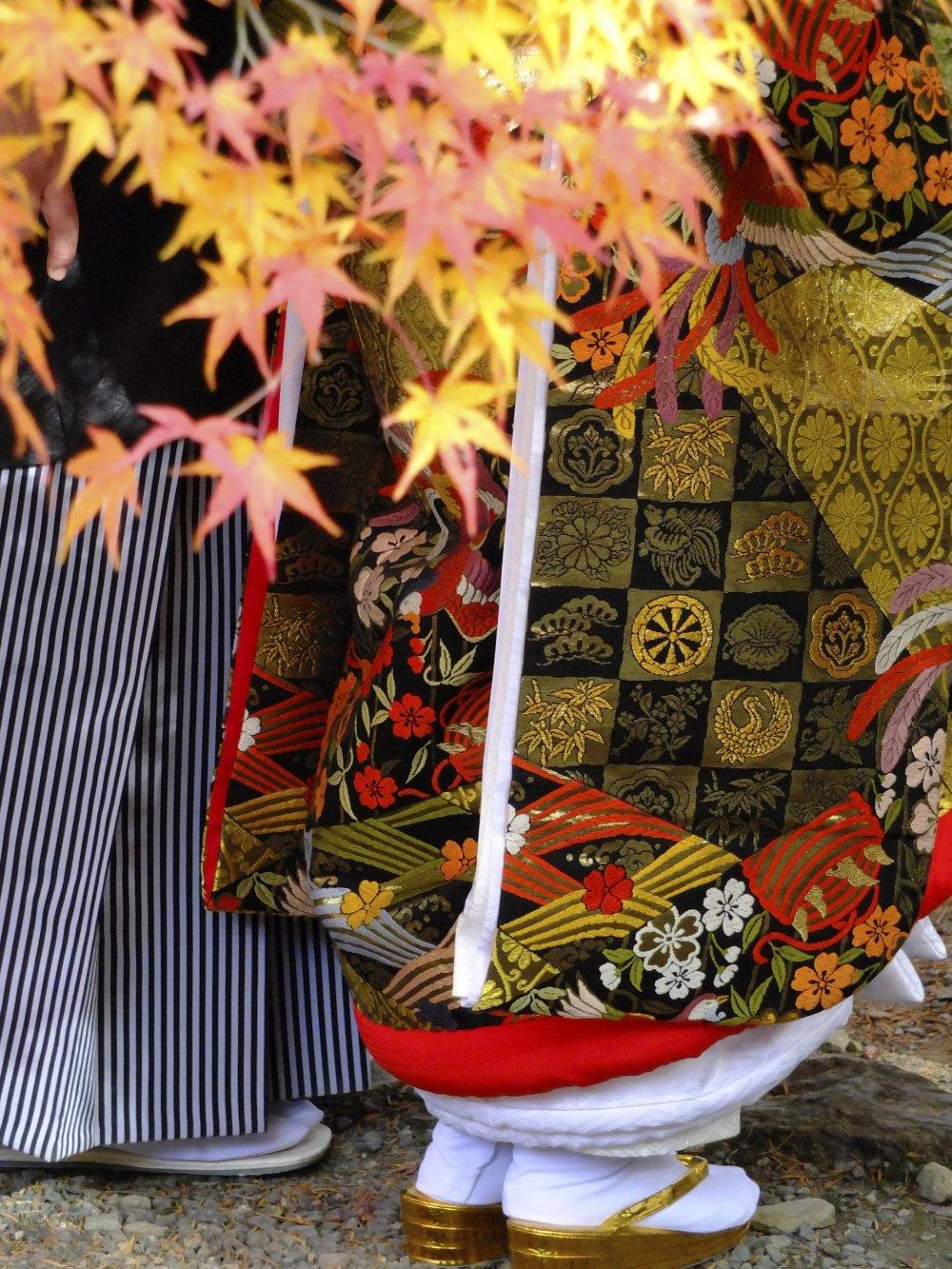 Close up of a lovely kimono