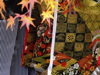 Close up of a lovely kimono