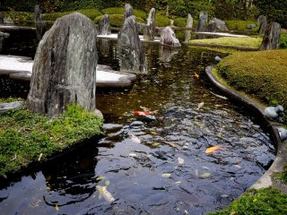 Koi di taman air, karya Mirei Shigemori