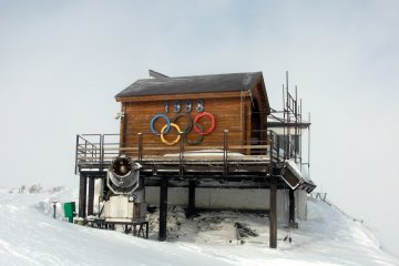 <p>Outside the Alpine lift is the start of the former&nbsp;Olympic slalom (downhill flag course).</p>