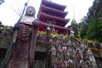 <p>Monju Bosatsu statue</p>