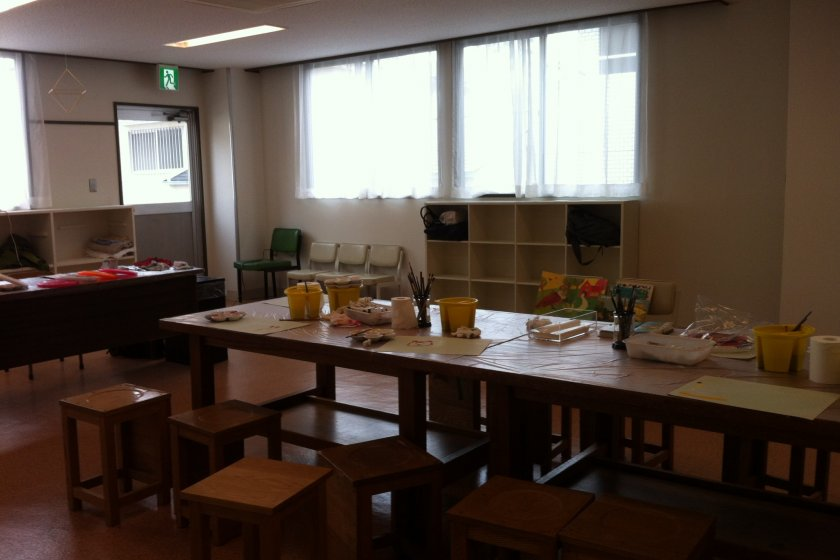 The 'creative' room where classes are held