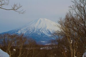 Mt. Yotei on a clear day.