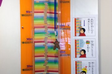 <p>How many yen notes tall are you? There was also a yen note to body weight calculator.&nbsp;</p>