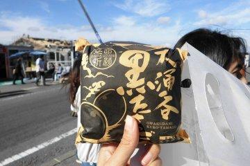 <p>ไข่ดำ ราคา 500円 / 1 ถุง</p>