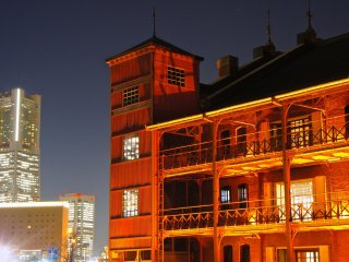 The red brick structure of the Akarenga Soko, or Yokohama Red Brick Warehouse