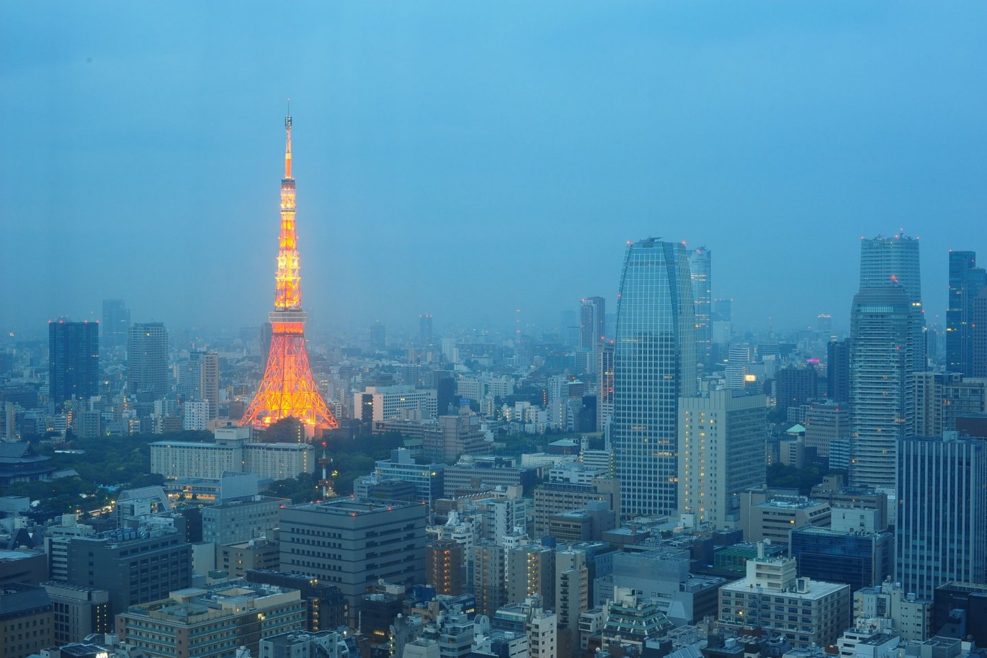 Tokyo Tower view from the hotel room early in the morning