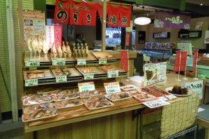อาหารแห้งในตลาดโอมิโช