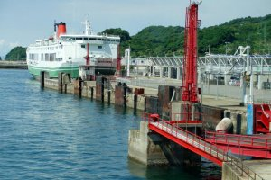 The ferry docked at Matsuyama Tourist Port