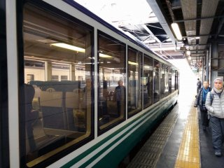 The train features extra large windows so passengers can truly enjoy the upcoming scenery.