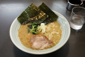 Close-up of the delicious ramen. Each Sendai-ko store uses the same base for their ramen but change the amount of ingredients slightly. This results in a familiar, yet unique flavor to each restaurant.