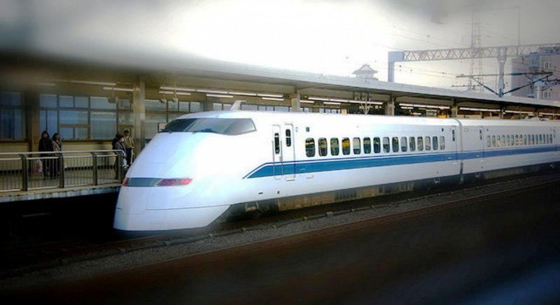 The Nozumi Bullet Trains depart every 10 mins during peak periods