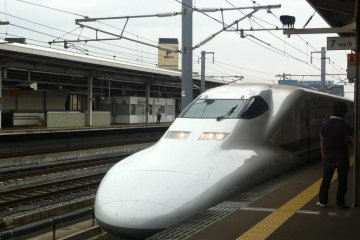 Kodama shinkansen bullet train is a good balance between speed and cost.
