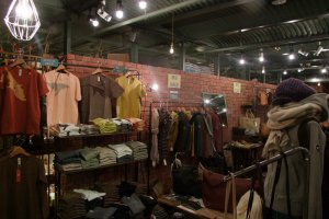 Clothes shopping in the Red Brick Warehouse