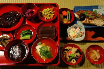 Traditional Aizu-area feast