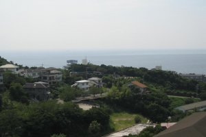 The Onsen Park features beautiful views of Shirahama Beach.