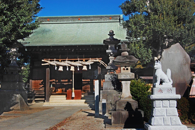 View of Okegawa Inari shrine