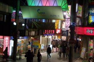 Entrance to Crea Mall near Kawagoe Station