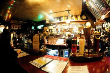<p>What are you having? A customer`s-eye view of the bar</p>
