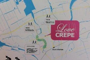 Love Crepe map