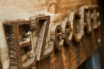 <p>Handmade door sign</p>