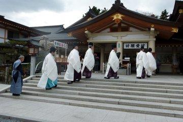 Setsubun at Gokoku-jinja