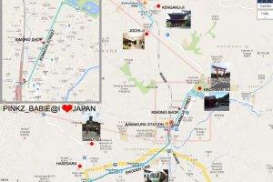 แผนที่มายังร้าน Kosode