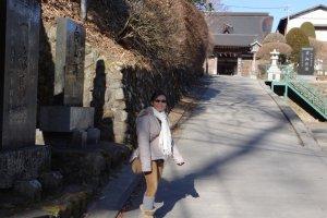 ทางเดินในหมู่บ้านบนเขา