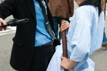 <p>Lupin III cosplayers at Nipponbashi Street Festa 2010</p>