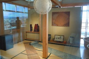 Utsunomiya handicrafts are beautifully showcased in the northwest corner of the 15F. I hope the Prefecture accompanies this display and others in the building with multi-lingual information one day soon