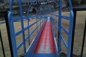 View of the roller slide from the top